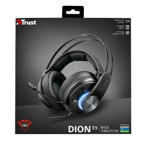 HEADSET TRUST DION 7.1 BASS VIBRATION  PS4/ONE/SWITCH/PC