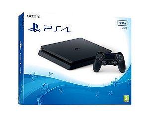 PS4 SLIM 500GB JET BLACK ORIGINAL SONY
