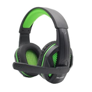 FONE HEADSET GAMER VERDE COM LED PARA PC/XBOX ONE/PS4/SWITCH TECDRIVE XP-1