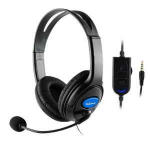 HEADSET BASS SURROUND COM FIO PARA PS4/PC/ONE/SWITCH