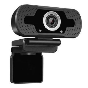 WEBCAM FULL HD 1080P C/ MICROFONE PRETA