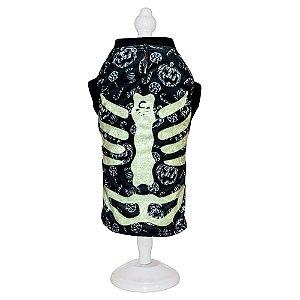 Ref 894 - Roupa Esqueleto Preta - Brilha no escuro!