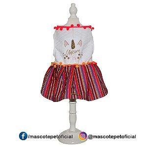 Ref 538 -  Vestido Unicorn Pompom