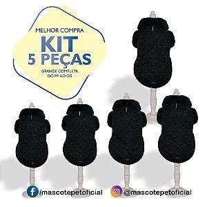 KIT 5 PEÇAS Ref. 594 Casaco Black
