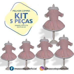 KIT 5 PEÇAS Ref. 595 Vestido Rosê