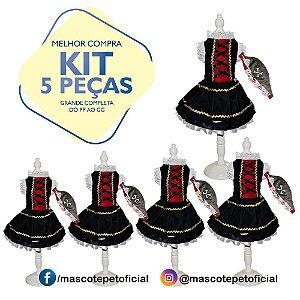 KIT 5 PEÇASRef 376 - Vestido Esmeralda