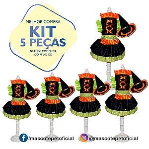 KIT 5 PEÇAS Ref 370 - Vestido Bruxinha
