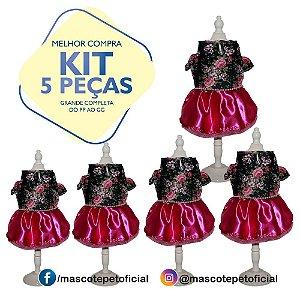 KIT 5 PEÇAS Ref 542 - Vestido Letícia