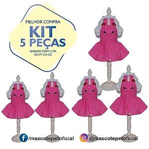 KIT 5 PEÇAS Ref 543 - Vestido Marcia
