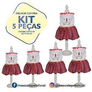 KIT 5 PEÇASRef 538 -  Vestido Unicorn Pompom