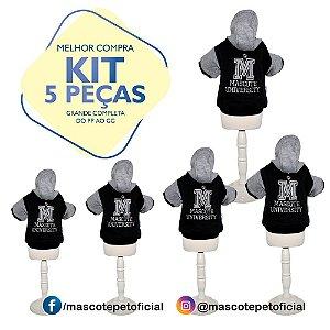 KIT 5 PEÇAS - Ref 550 - Casaco Universitário