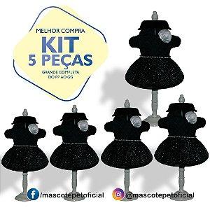 KIT 5 PEÇAS Ref. 596 Vestido Black