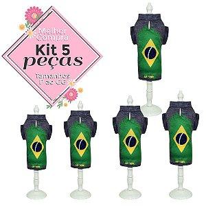 KIT 5 PEÇAS Ref.823 Camisa Brasil