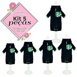 KIT 5 PEÇAS Ref 833 Camisa Polo Pegada