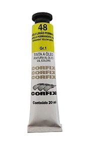 Tinta Oleo Corfix 20ml 48 Amarelo Limão Permanente