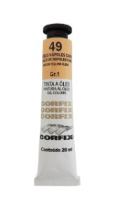 Tinta Oleo Corfix 20ml 49 Amarelo Napoles Carne