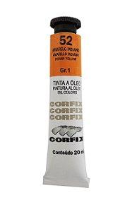 Tinta Oleo Corfix 20ml 52 Amarelo Indiano