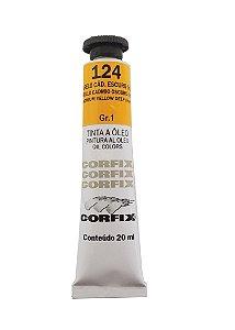 Tinta Oleo Corfix 20ml 124 Amarelo Cadmio Escuro