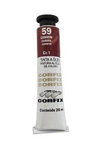 Tinta Oleo Corfix 20ml 59 Carmim