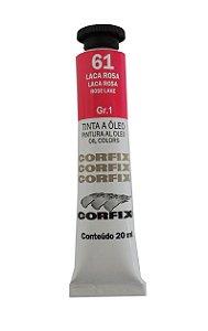 Tinta Oleo Corfix 20ml 61 Laca Rosa
