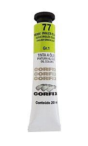 Tinta Oleo Corfix 20ml 77 Verde Inglês claro
