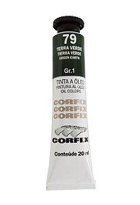 Tinta Oleo Corfix 20ml 79 terra Verde