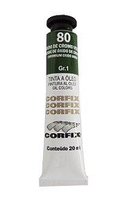 Tinta Oleo Corfix 20ml 80 Oxido Cromo Verde
