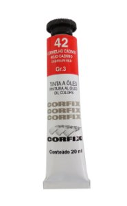Tinta Oleo Corfix 20ml 42 vermelho Cádmio Claro Grupo 3