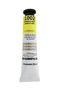 Tinta Oleo Corfix 20ml 1002 Amarelo Limão Fluorescente