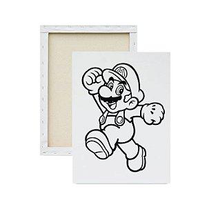 Tela para pintura infantil - Mario