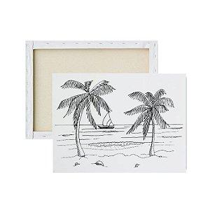 Tela para pintura infantil - Praia