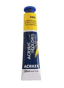 Tinta Acrilica Acrilex 20ml 340 - Amarelo de Cadmio Claro