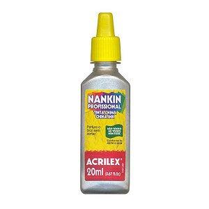 Tinta Nankin Acrilex 20 ml - 533 Prata