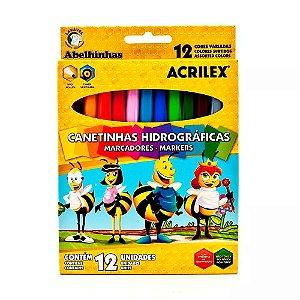 Canetinhas Coloridas Hidrográficas - 12 Cores