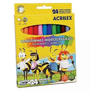 Canetinhas Coloridas Hidrográficas - 24 Cores