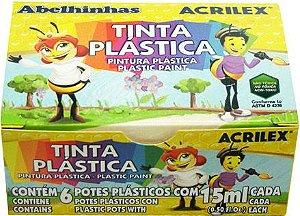 Tinta Plástica - 6 Cores