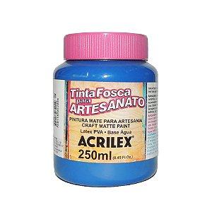 Tinta Fosca para Artesanato Acrilex 250ML - 501 Azul Turquesa