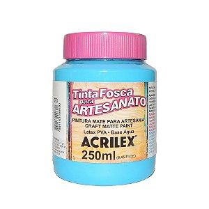 Tinta Fosca para Artesanato Acrilex 250ML - 503 Azul Celeste