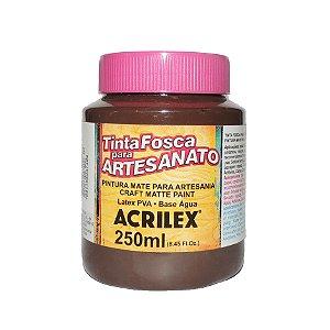 Tinta Fosca para Artesanato Acrilex 250ML - 526 Marrom Escuro