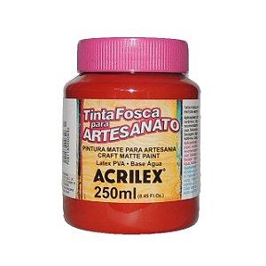 Tinta Fosca para Artesanato Acrilex 250ML - 508 Vermelho Escarlate