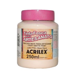 Tinta Fosca para Artesanato Acrilex 250ML - 538 Amarelo Pele