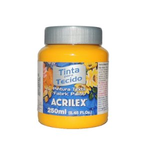 Tinta Para Tecido Acrilex 250ML - 505 Amarelo Ouro