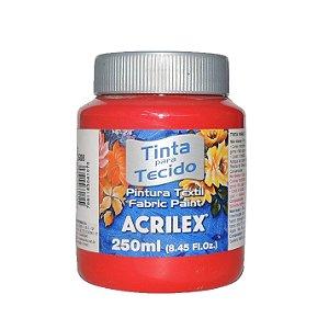 Tinta Para Tecido Acrilex 250ML - 508 Vermelho Escarlate