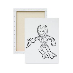 Tela para pintura infantil - Homem de Ferro