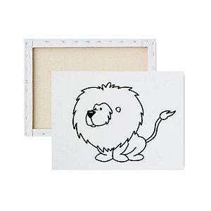Tela para pintura infantil - Leão