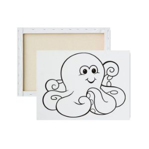 Tela para pintura infantil - Polvo