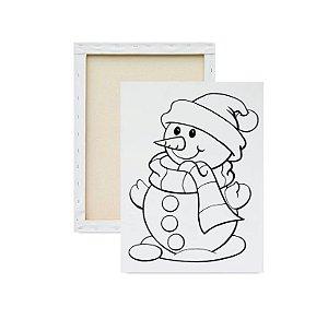 Tela para pintura infantil - Boneco de Neve
