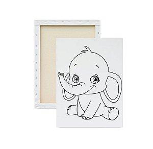 Tela para pintura infantil - Elefante