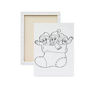 Tela para pintura infantil - Natal Crianças