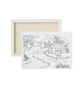Tela para pintura infantil - Casinha